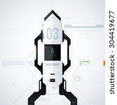hi tech vector template. eps10   Shutterstock .eps vector #304419677