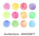 Set Of Pastel Watercolor...