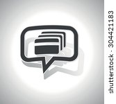 curved chat bubble with credit...