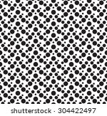 dotted seamless pattern vector... | Shutterstock .eps vector #304422497