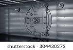 bank vault door 3d | Shutterstock . vector #304430273