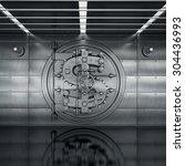 bank vault door. business... | Shutterstock . vector #304436993