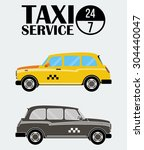 yellow and black white retro... | Shutterstock .eps vector #304440047