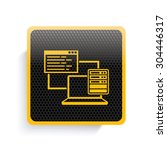 networking icon design yellow...