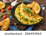 Herb Omelette With Chives And...