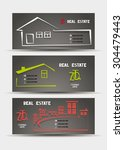 real estate business cards with ...