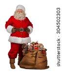 full length portrait of a santa ... | Shutterstock . vector #304502303