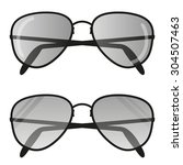 aviator sunglasses icon . pilot ... | Shutterstock .eps vector #304507463