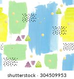 abstract acrylic hand painted... | Shutterstock . vector #304509953