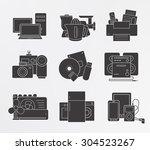 home electronics icons set....