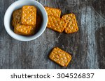 Stack Of Square Crackers...