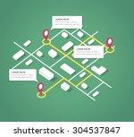 isometric city map design... | Shutterstock .eps vector #304537847