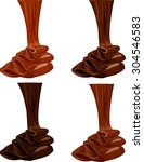 ������, ������: Chocolate flow Vector illustration
