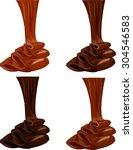 Постер, плакат: Chocolate flow Vector illustration