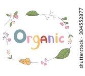 vector illustration of organic .... | Shutterstock .eps vector #304552877