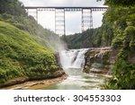 The Upper Falls At Letchworth...