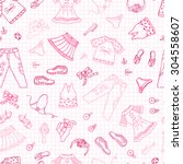 seamless pattern of doodles