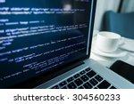 website coding. website html... | Shutterstock . vector #304560233