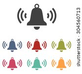 ringing bell icon set | Shutterstock .eps vector #304560713