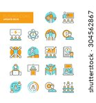 line icons with flat design... | Shutterstock .eps vector #304562867