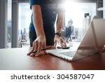young creative designer man... | Shutterstock . vector #304587047
