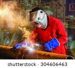 welding work. | Shutterstock . vector #304606463
