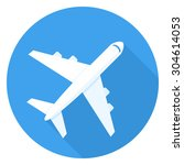 airplane icon  passenger plane... | Shutterstock .eps vector #304614053