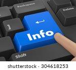 text info button 3d render | Shutterstock . vector #304618253