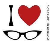 I Love Glasses Print. Shape Of...