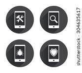Smartphone Icons. Shield...