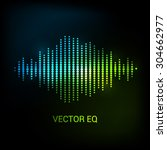 single colorful eq  equalizer....   Shutterstock .eps vector #304662977