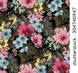 abstract elegance seamless... | Shutterstock .eps vector #304740947