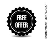 free. free badge. free stamp.... | Shutterstock .eps vector #304760927