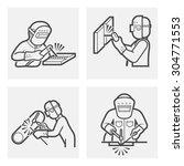 welder and welding work vector... | Shutterstock .eps vector #304771553