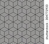 stripe cube pattern | Shutterstock . vector #304772933