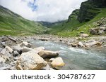 moutain river and could... | Shutterstock . vector #304787627