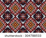 geometric ethnic pattern design ... | Shutterstock .eps vector #304788533