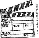 style movie set clapperboard | Shutterstock .eps vector #304788737