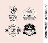 cotton badges design  organic... | Shutterstock .eps vector #304800377