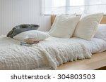 stylish bedroom interior design ... | Shutterstock . vector #304803503
