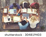 diverse architect people group... | Shutterstock . vector #304819403