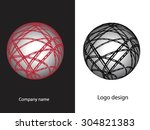 abstract logo design.logo... | Shutterstock .eps vector #304821383