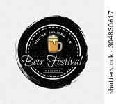 beer festival badges logos and... | Shutterstock .eps vector #304830617