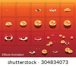 bubble effect animation.can use ... | Shutterstock .eps vector #304834073