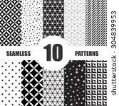 black and white geometric...   Shutterstock .eps vector #304839953