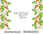 romantic invitation. wedding ... | Shutterstock .eps vector #304863053