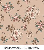 seamless cute flower vector... | Shutterstock .eps vector #304893947