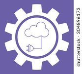cloud computing digital design  ... | Shutterstock .eps vector #304896173