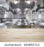 table top counter with blurred... | Shutterstock . vector #304896713