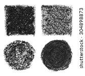 black oil pastel banners ... | Shutterstock . vector #304898873
